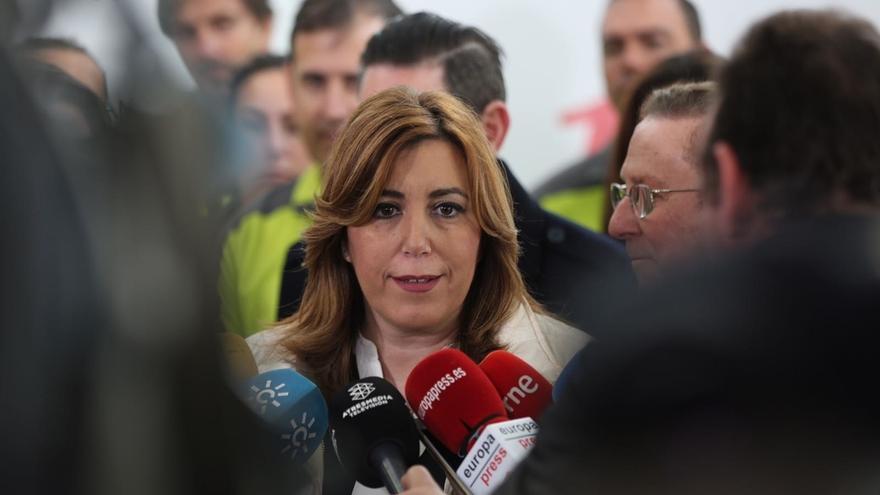 """Susana Díaz: """"Soy 100% del PSOE, libre de aditivos, pero nunca será mío"""""""