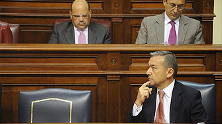 Paulino Rivero, en el Parlamento. (ACN PRESS)