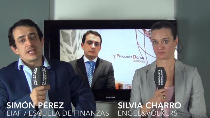 Silvia Charro y Simón Pérez, en el vídeo de las hipotecas