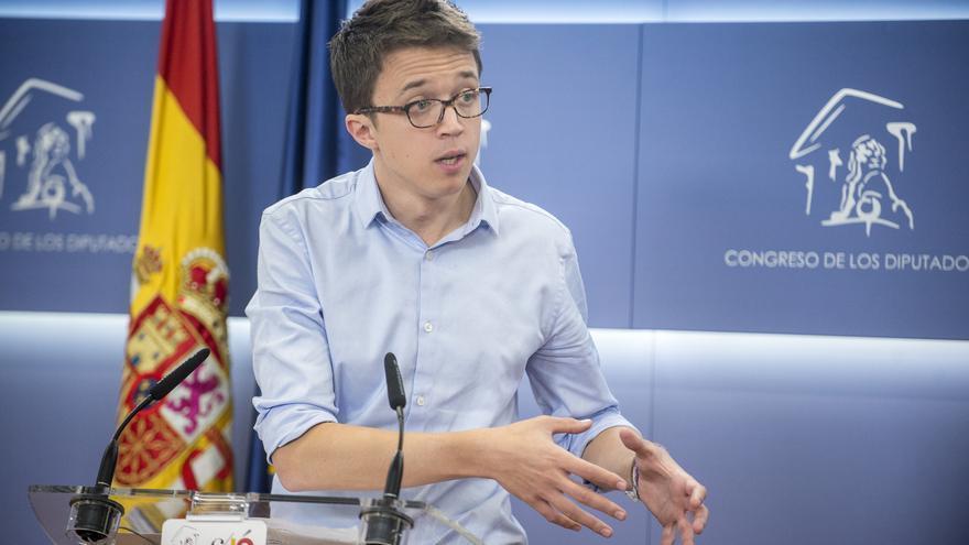Íñigo Errejón, en la sala de prensa del Congreso tras pedir la comparecencia de Cifuentes y Aguirre.