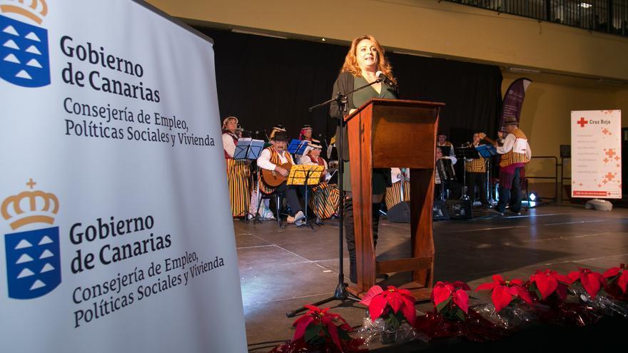 Cristina Valido, en el evento celebrado por su consejería con mayores de Tenerife