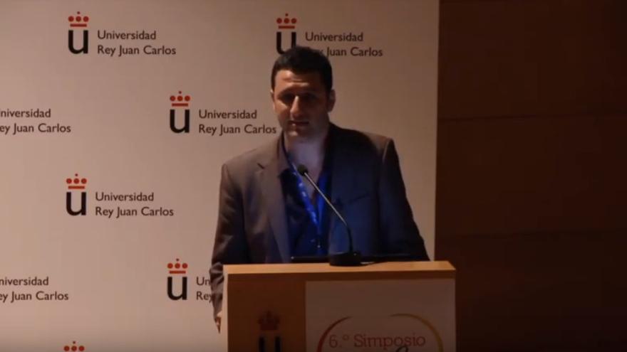 David Moreno Pérez, en un simposio de la Asociación Española de Vacunología celebrado en 2013