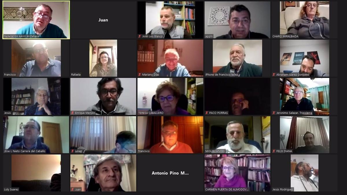 Asamblea telemática de la Federación de Asociaciones Vecinales de Córdoba Al-Zahara.
