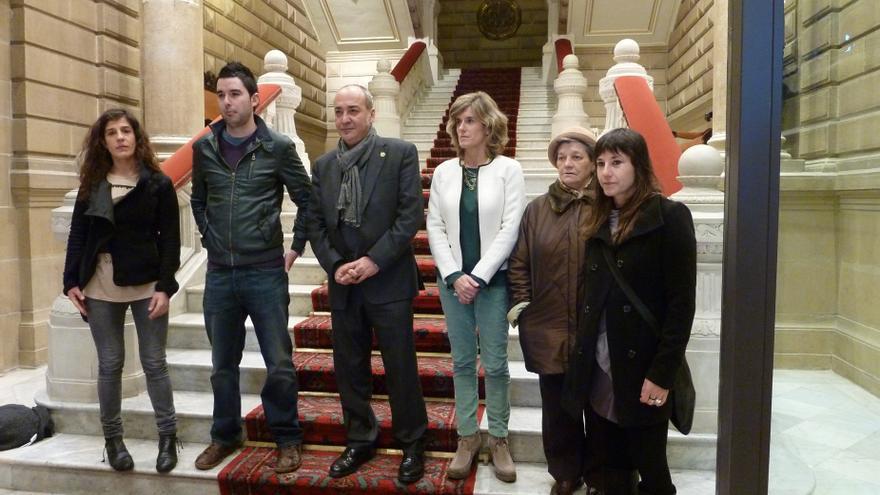 Garitano se reúne con representantes de Herrira y familiares de presos para apoyar la manifestación del sábado