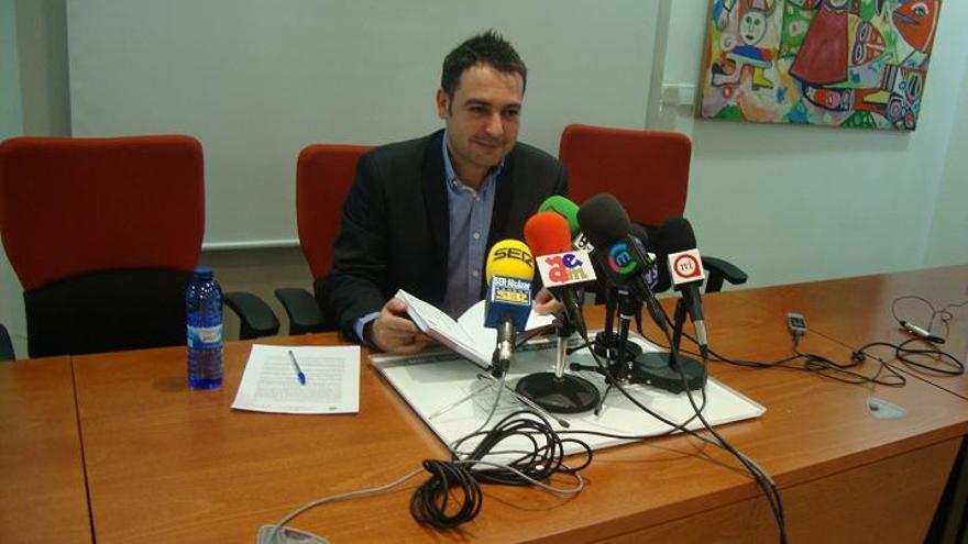 Ángel Puente en su época de portavoz del Gobierno de Alcázar de San Juan