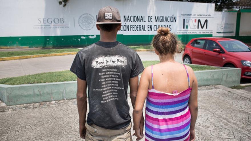 Migrantes en la frontera de México en Tapachula, Chiapas / Sergio Ortiz/ Amnesty International