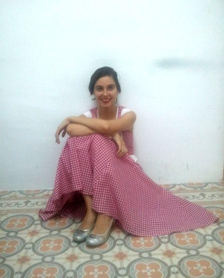 Leila en nuestra redacción   SOMOSMALASANA.COM