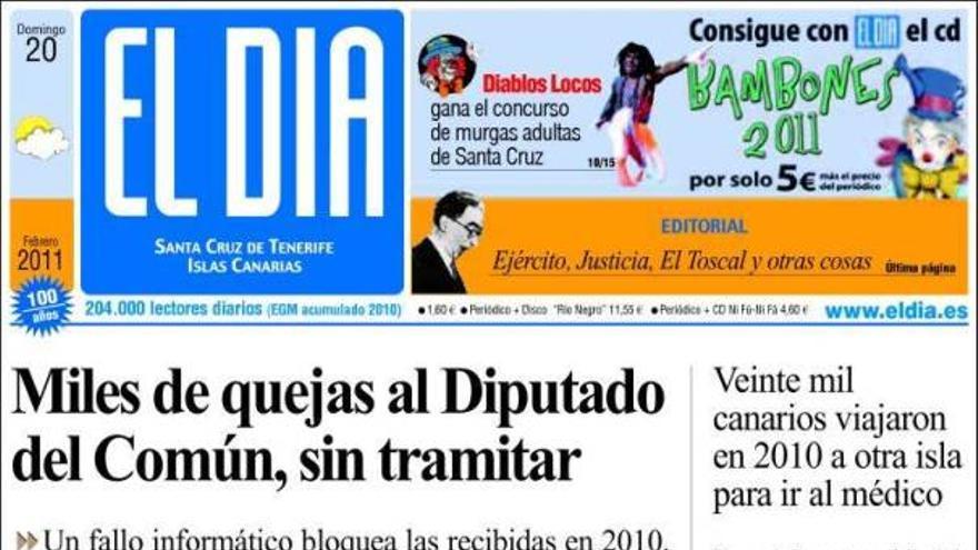 De las portadas del día (20/02/11) #4