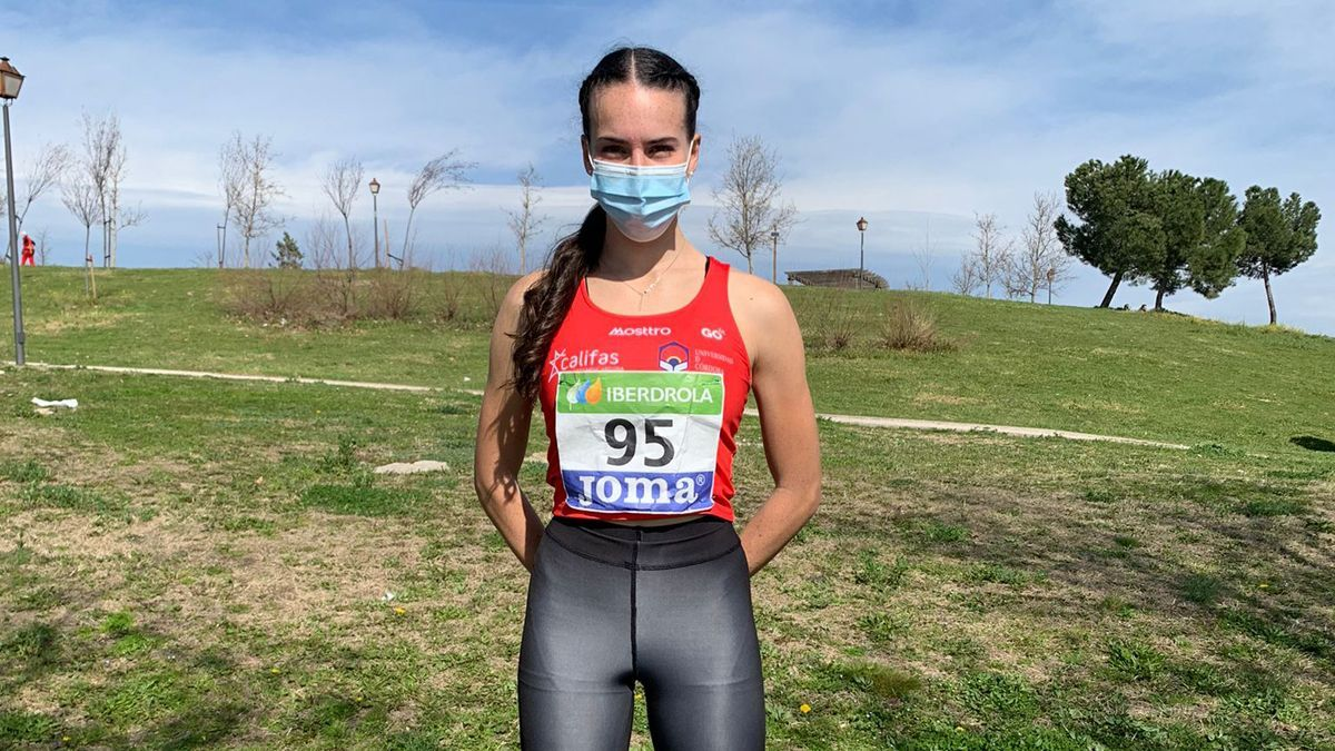 Carmen Avilés, antes de competir en Madrid.