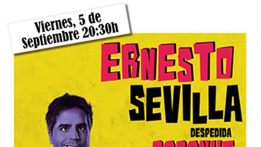 Ernesto Sevilla en Despedida Coconut. El 5 de septiembre en Valladolid