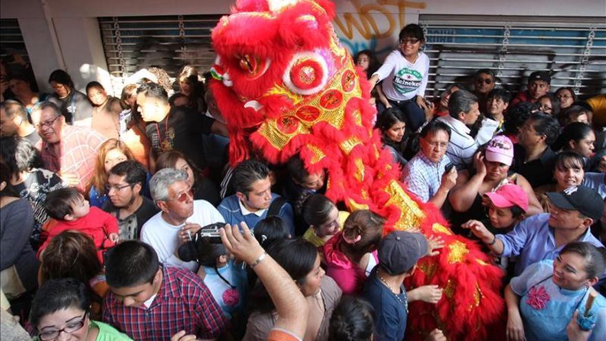 La comunidad china en Ciudad de México celebra con verbena el Año de la Cabra