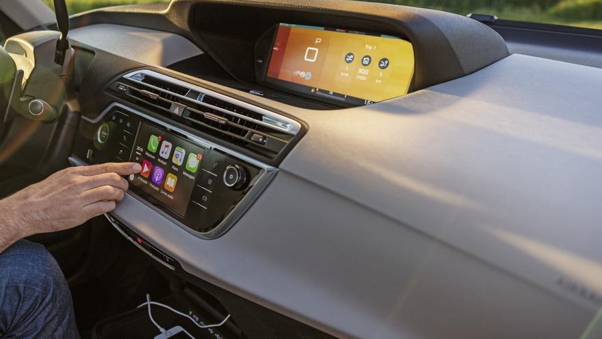 Las pantallas digitales del Citroën Grand C4 Picasso.