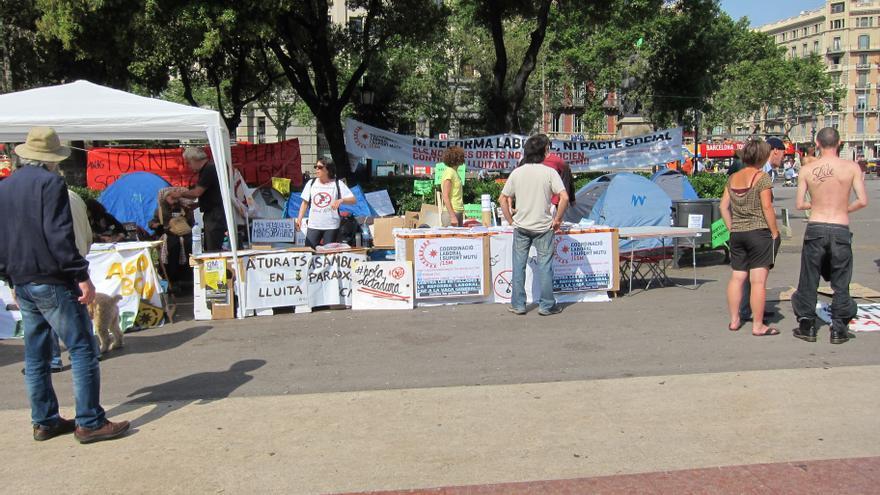 """Los 'indignados' vuelven hoy a la plaza Catalunya de Barcelona porque el movimiento """"sigue vivo"""""""