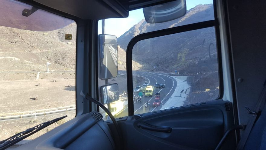Accidente en el túnel de La Aldea tras una persecución policial