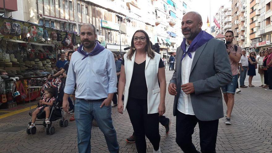 José García Molina visita la Feria de Albacete