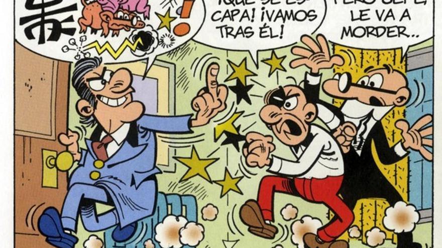 Viñeta de 'El Tesorero', un cómic de 'Mortadelo y Filemón' lanzado en 2015