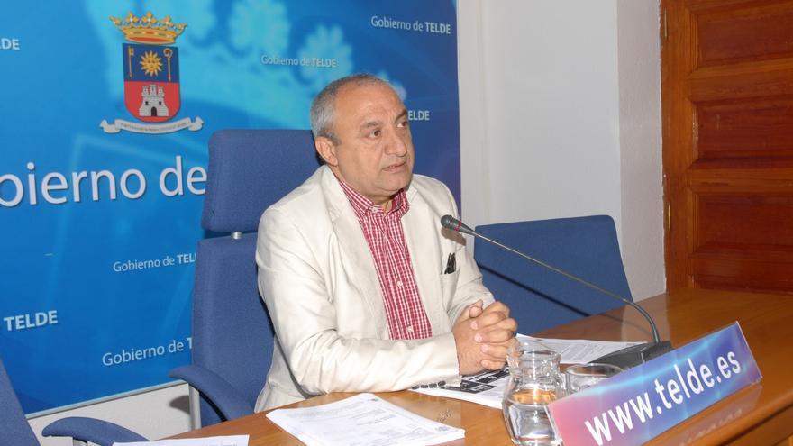 Ildefonso Jiménez durante su etapa como concejal del Ayuntamiento de Telde.