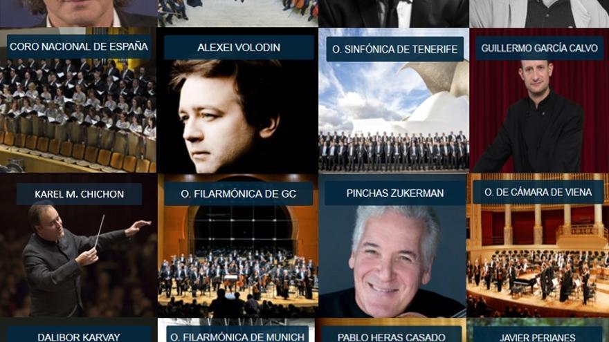 Cartel de la próxima edición del Festival de Música de Canarias.