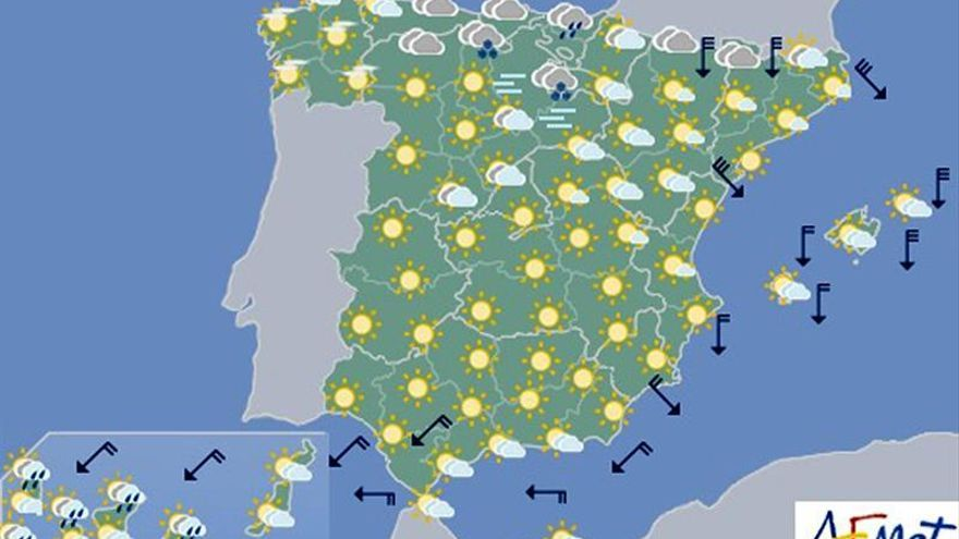 Vientos fuertes en Pirineos, bajo Ebro, Ampurdán y Menorca para hoy, domingo
