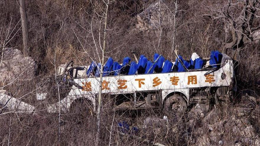 Al menos 35 muertos en un accidente de autobús en el noroeste de China