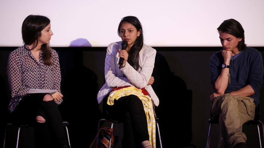 Laura Zúñiga, hija de Berta Cáeeres, durante una de sus intervenciones en 'El precio del activismo'.
