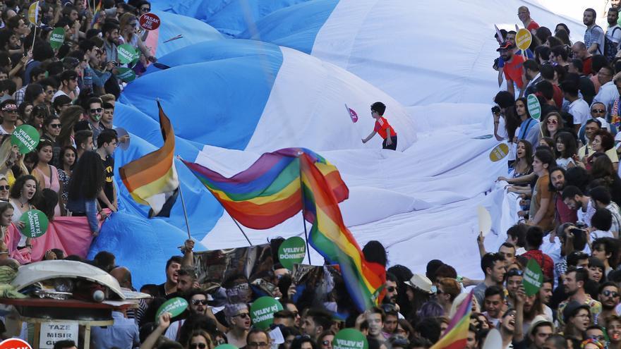 Celebración de la Trans Pride en Estambul, Turquía, en 2015// AP Photo/Emrah Gurel