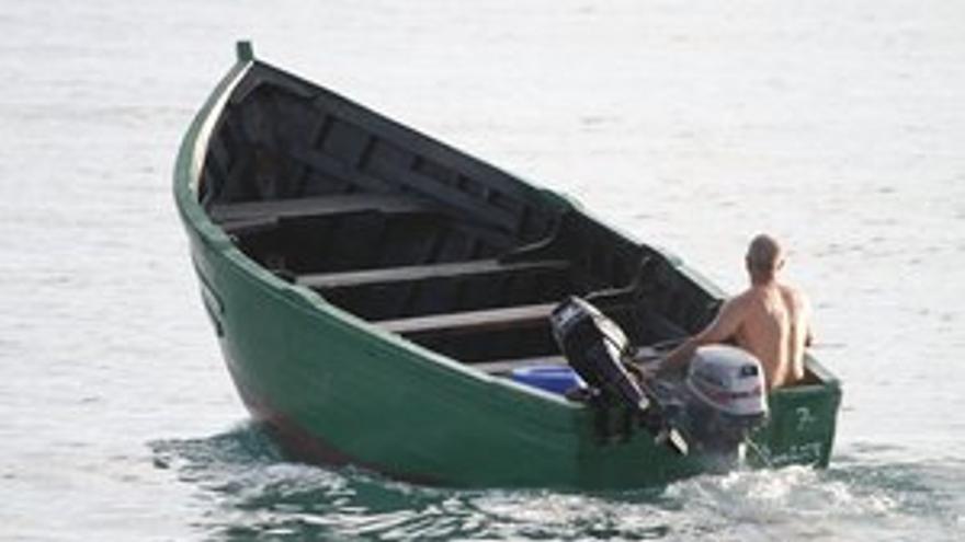 La embarcación que arribó este jueves a Costa Teguise. (ACFI PRESS)
