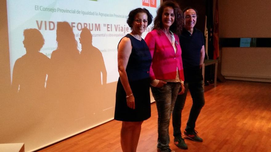 Carla Antonelli, diputada en la Asamblea de Madrid, en un acto del PSOE