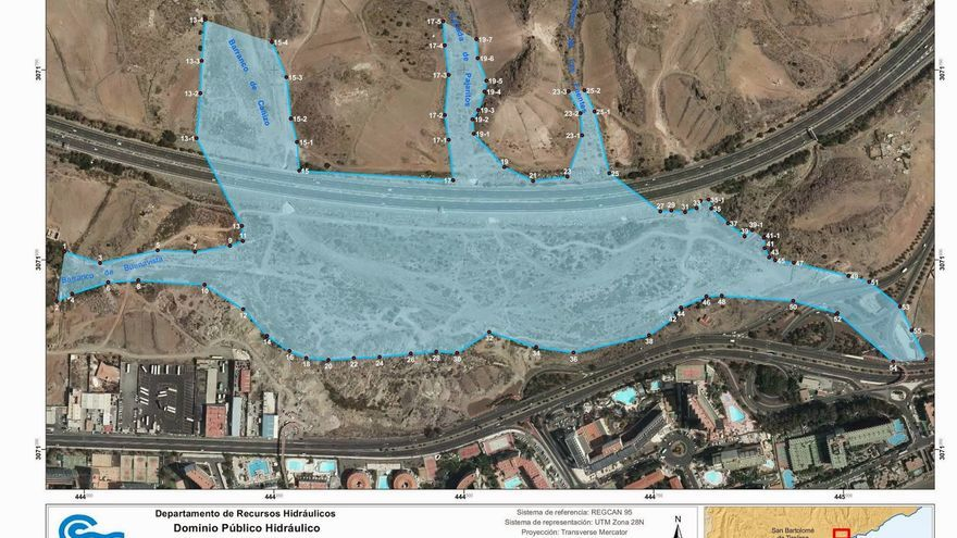 Proyecto de canalización del barranco en el que iría situado el Siam Park de Gran Canaria