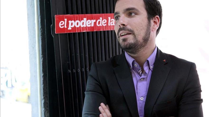 """Garzón cree que """"no está en duda"""" ni la supervivencia ni la autonomía de IU"""