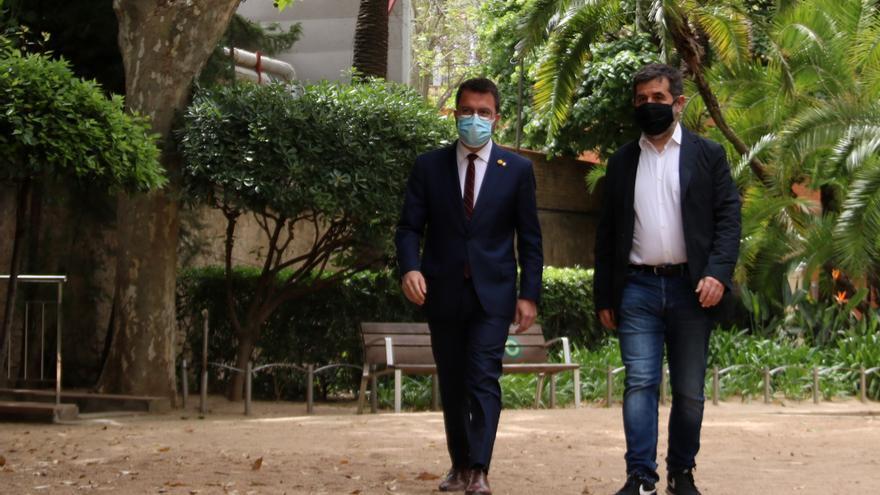 El 'pacto de las masías': cómo Aragonès y Jordi Sànchez encauzaron en 48 horas una investidura encaminada al fracaso
