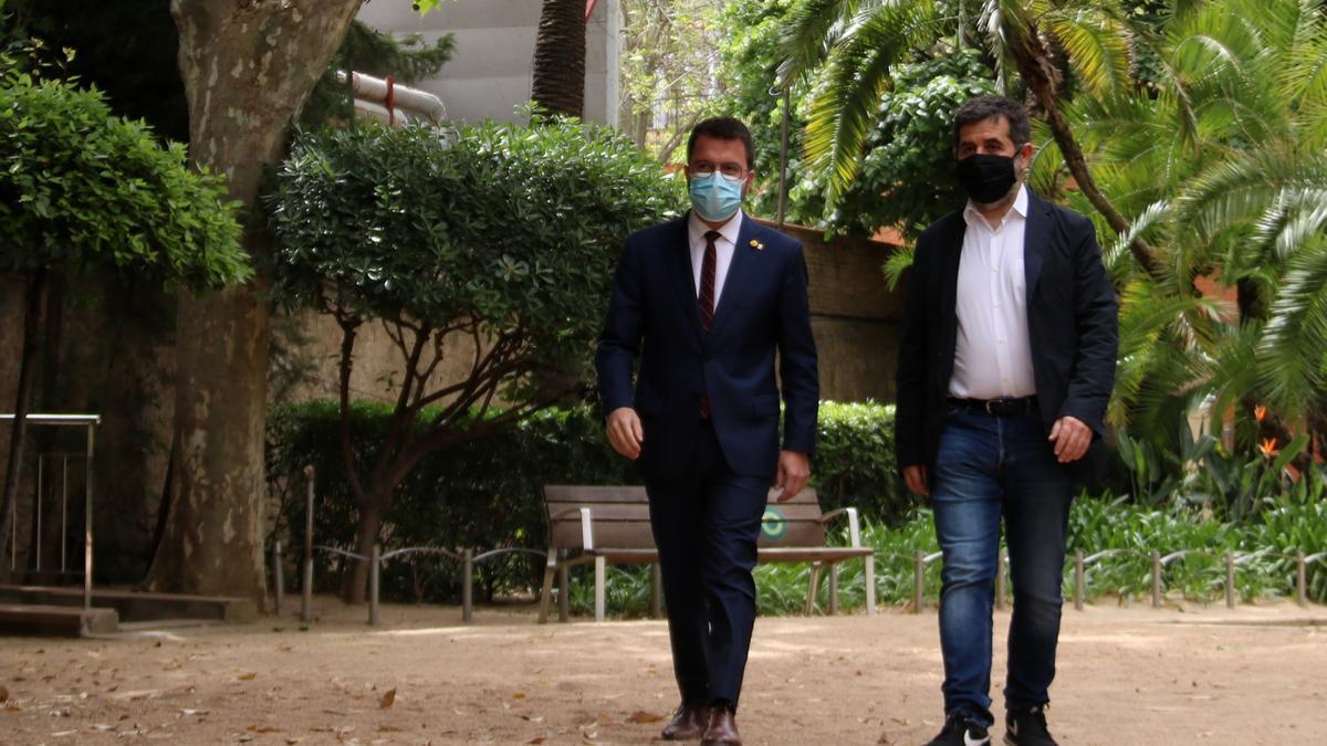 Pere Aragonès y Jordi Sánchez acuden a dar los detalles del acuerdo alcanzado