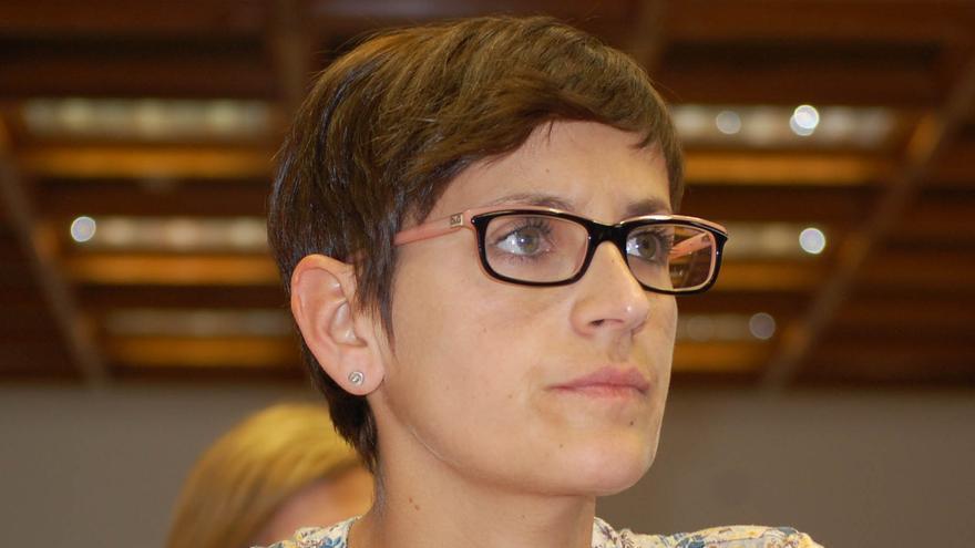 La nueva portavoz del PSOE en el Senado, María Chivite.