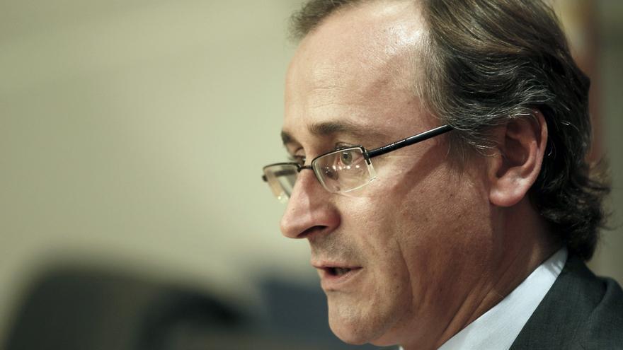 El portavoz del PP en el Congreso, Alfonso Alonso. / Efe
