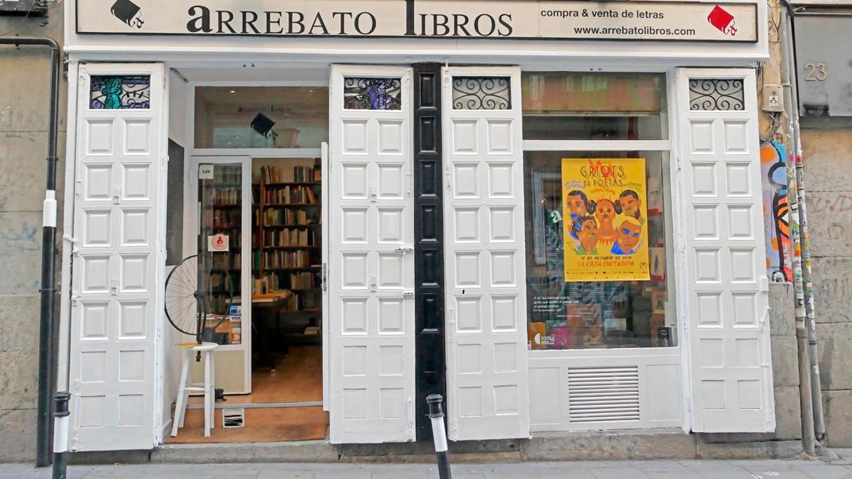 La librería Arrebato Libros fundada por Pepe Olona, uno de los ideólogos de Universal Poem