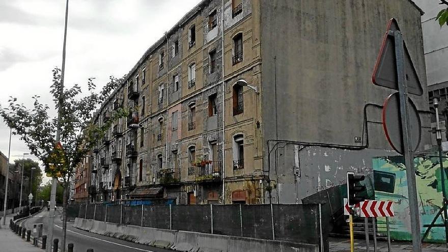 Edificios con necesidad de rehabilitación, en Sestao. /Foto: Ayuntamiento de Sestao