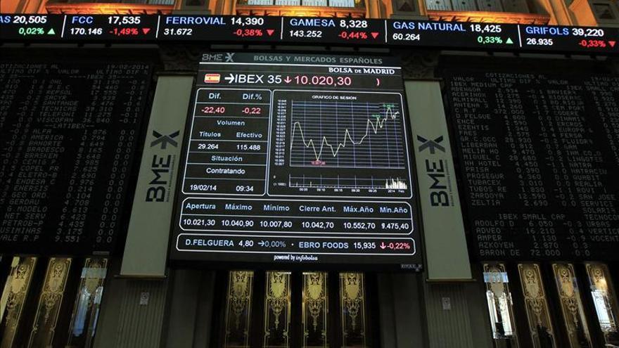 El IBEX sufre un leve descenso del 0,28 por ciento en línea con otras bolsas europeas