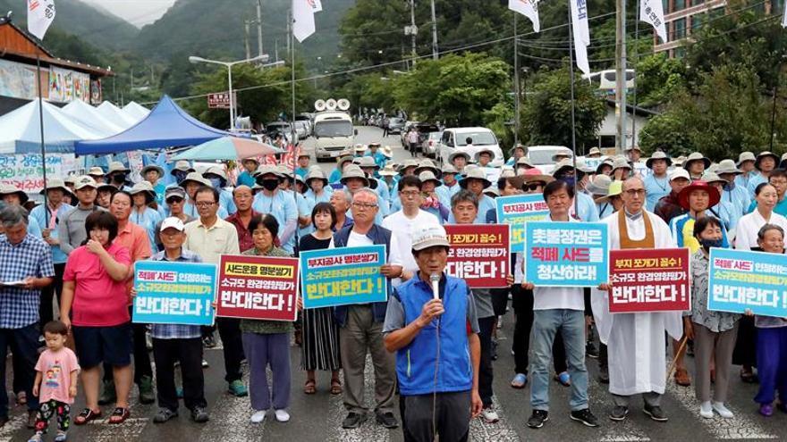 Docenas de heridos en Corea del Sur en protestas por el despliegue del THAAD