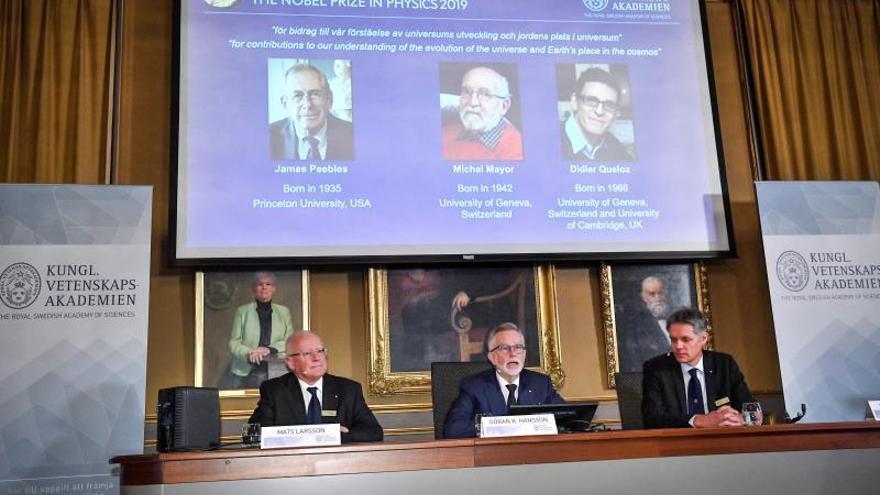 Nobel de Física a astrofísicos por sus trabajos sobre la evolución del universo
