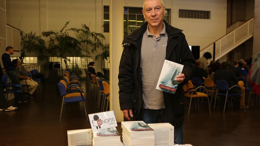 Miguel Pajares en la presentación de 'Aguas de venganza' en Gran Canaria