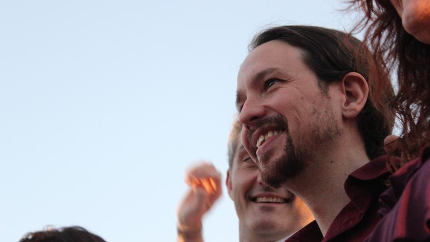 Pablo Iglesias junto a Óscar Urralburu / PSS