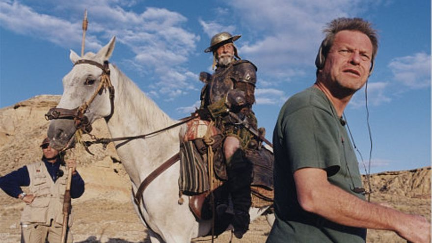"Terry Gilliam en el rodaje de ""The man who killed Don Quixote"""