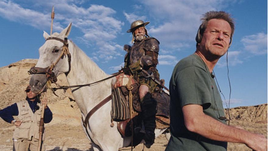 """Terry Gilliam en el rodaje de """"The man who killed Don Quixote"""""""