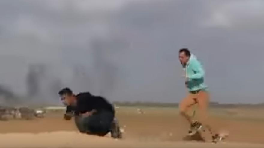 El joven palestino recibió un tiro cuando huía de la zona fronteriza.