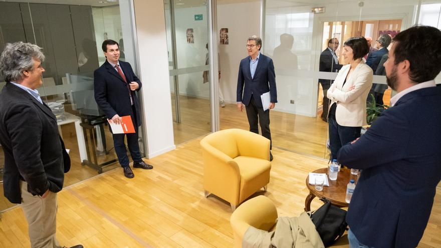 Feijóo, Ana Pontón, Antón Gómez-Reino, Pedro Puy e Gonzalo Caballero
