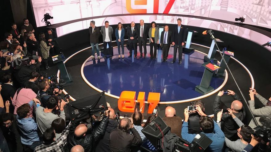 Los candidatos, antes del debate