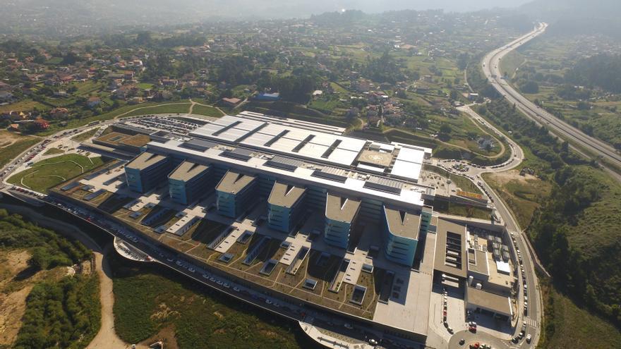 Vista del hospital Álvaro Cunqueiro de Vigo y su entorno