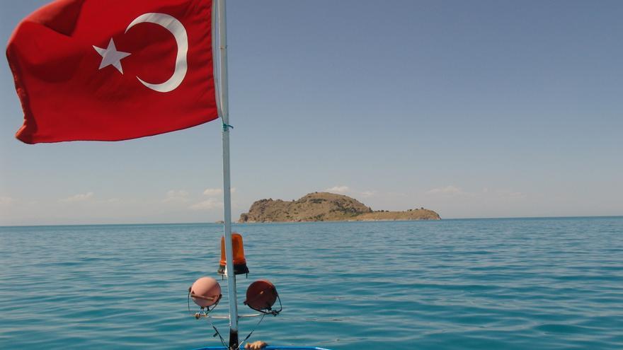 Lago de Van, al este de Turquía cerca de la frontera iraní