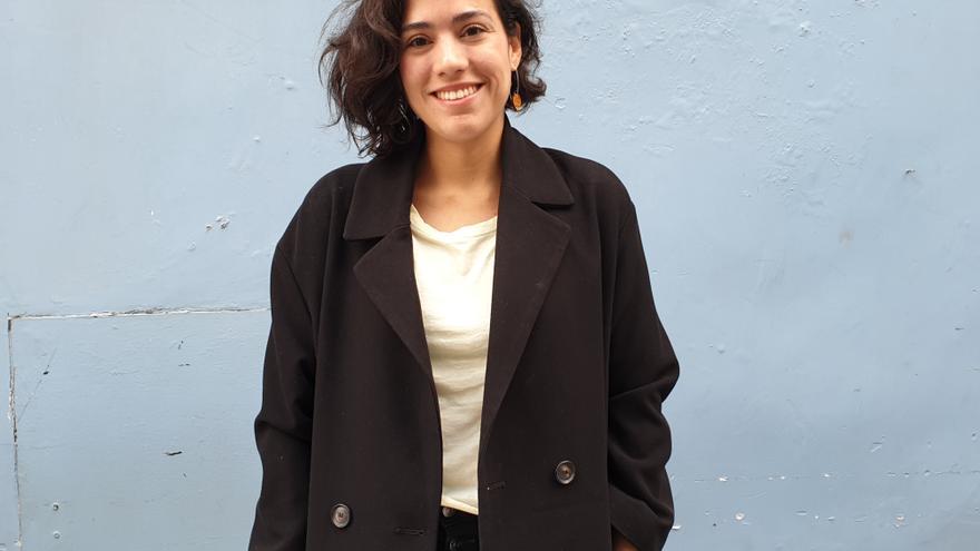 Sara Fratini se encuentra estos días en La Palma.