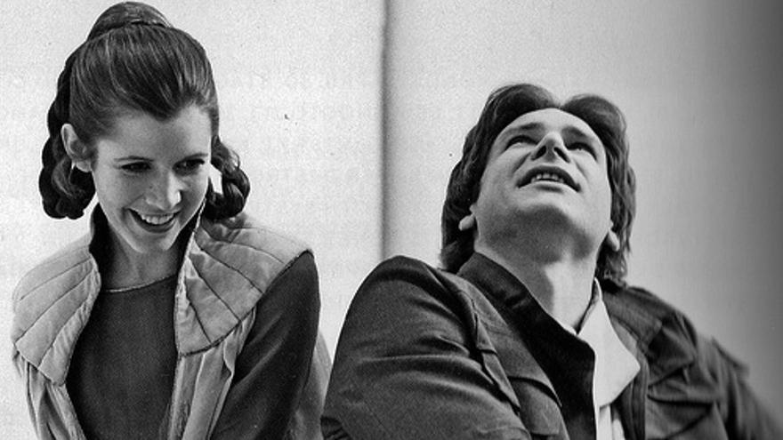 Leia y Han Solo en la primera trilogía